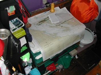 Navigation Table in Mark's Boat